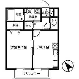 ビラ相生[1階]の間取り