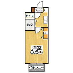 西院くめマンション[4階]の間取り