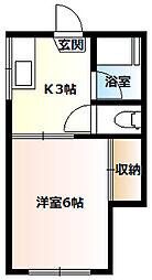 宮前ハイツA[201号室]の間取り