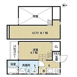 大阪府堺市西区鳳北町4丁の賃貸アパートの間取り