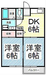 長野県長野市大字風間の賃貸アパートの間取り