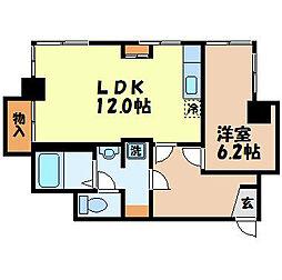 長崎県長崎市興善町の賃貸マンションの間取り