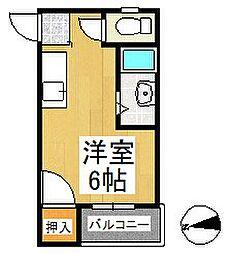 シャーミー諏訪野[2階]の間取り