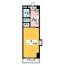 冨士美ビル[2階]の間取り