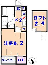 セゾンプレイス[303号室]の間取り
