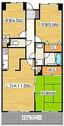 都府楼パーク・ホームズ[2階]の間取り