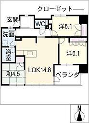 グランドメゾン桐林町208号室[2階]の間取り