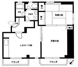 神奈川県横浜市港南区丸山台2丁目の賃貸マンションの間取り