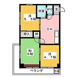 第五菊屋ビル[2階]の間取り