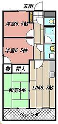 サンローゼ本城東[203号室]の間取り