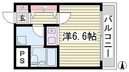 朝日プラザツインテージ神戸イースト[3階]の間取り