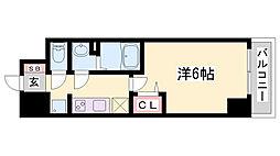 プレサンス兵庫駅前 9階1Kの間取り