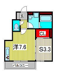 フラッツァルーエ[1階]の間取り
