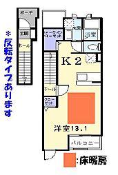 滋賀県彦根市芹橋二丁目の賃貸マンションの間取り