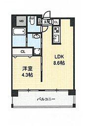 地下鉄今里駅 徒歩1分 新築マンション[3階]の間取り