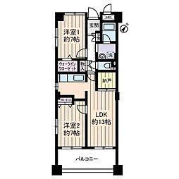サングランパ[3階]の間取り