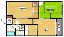 阪下ハウスマンションA棟[3階]の間取り