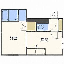 メゾンド栄町[3階]の間取り