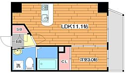 M:COURT関大前 4階1LDKの間取り