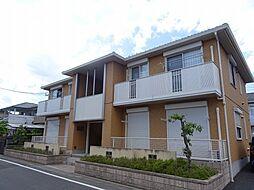 埼玉県坂戸市にっさい花みず木3丁目の賃貸アパートの外観