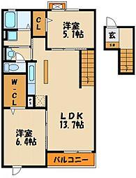 メゾン・ド・リアンⅢ[4階]の間取り