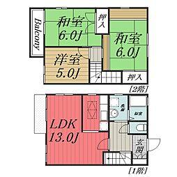 [タウンハウス] 千葉県四街道市美しが丘1丁目 の賃貸【千葉県 / 四街道市】の間取り