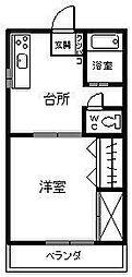 長浜リコーハイツ[202号室]の間取り