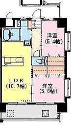 (仮称)神宮外苑 東棟[701号室]の間取り