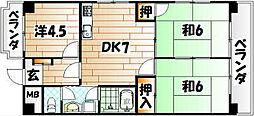 シャトレ中井[5階]の間取り