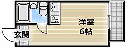 大阪府東大阪市下小阪1丁目の賃貸マンションの間取り