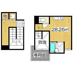 是空HORIKAWA[203号室]の間取り