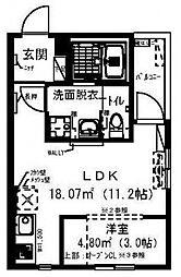 レイディエンス新松戸[303号室号室]の間取り
