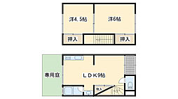[テラスハウス] 大阪府貝塚市半田3丁目 の賃貸【/】の間取り