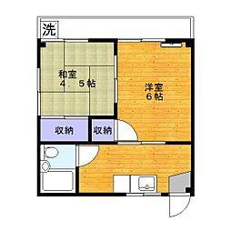コーポノザキ[2階]の間取り