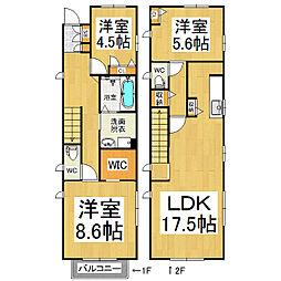 [一戸建] 長野県松本市旭1丁目 の賃貸【/】の間取り