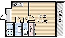 EXハイツABENO[302号室]の間取り