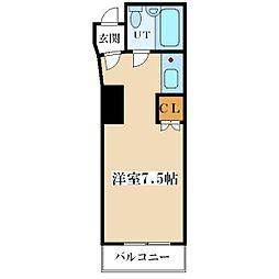 ラピス塚本[3階]の間取り