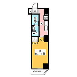 プレール・ドゥーク西新井 1階1Kの間取り