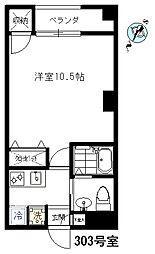 ヤマナシヤ[303号室]の間取り