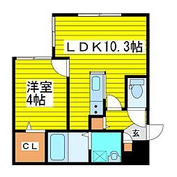 北海道札幌市東区北七条東4丁目の賃貸マンションの間取り