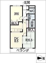 RESIDENCE ENFINITY M1[3階]の間取り