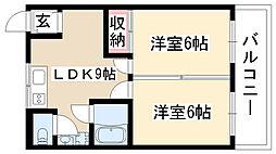 パークイワサキ[302号室]の間取り