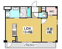 ココパーチェ新金岡[1階]の間取り