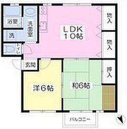 ルア加茂[2階]の間取り