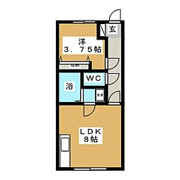 サルビア館[1階]の間取り