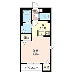 メゾンゆりのき[2階]の間取り