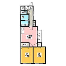 エンドウハイツII[1階]の間取り