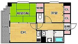 FLEX博多南[4階]の間取り