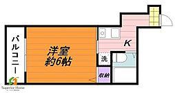東京都新宿区下宮比町の賃貸マンションの間取り