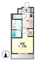 パルティール新栄[3階]の間取り